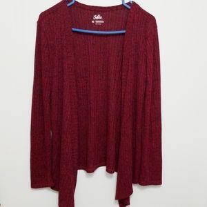 3/$20 Justice Girls Open Cardigan Burgundy Size 18